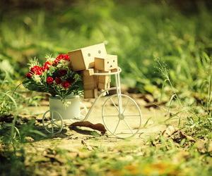 flowers, danbo, and bike image