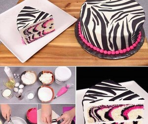 cake, diy, and zebra image