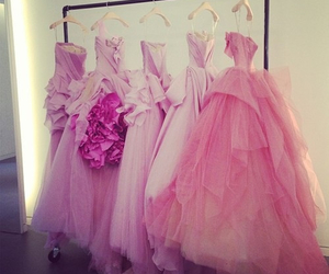 dresses, زهري, and pink image