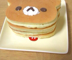 pancakes, food, and bear image