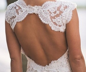 back, lace, and girl image