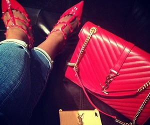 fashion, YSL, and red image