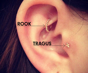 ear, piercing, and ring image