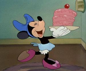 cake, disney, and minnie image