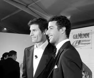f1, Mark Webber, and daniel ricciardo image