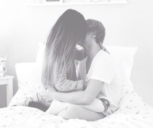 black and white, couple, and lovers image
