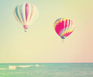 beautiful, sea, and balloons image