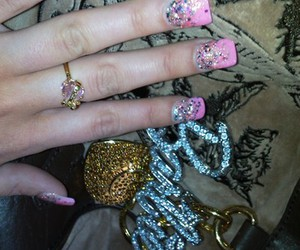 girly, barbie, and nails image