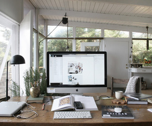 apple, office, and interior image