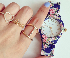 rings, watch, and love image