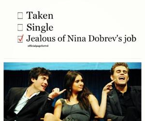 Nina Dobrev, ian somerhalder, and paul wesley image