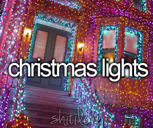 christmas, lights, and beautiful image