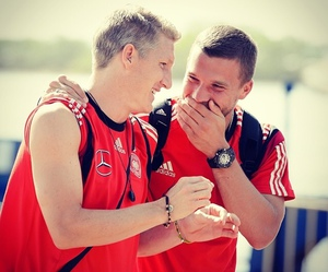 germany, schweinsteiger, and lukas podolski image
