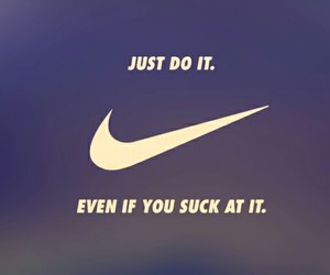 Just Do It, nike, and workout image