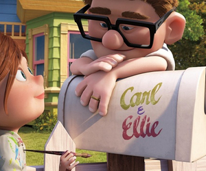 carl, couple, and up image