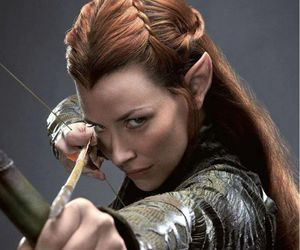 the hobbit, tauriel, and elf image