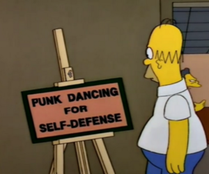 punk, simpsons, and the simpsons image