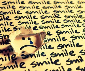 smile, sad, and cry image