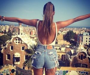 girl, summer, and shorts image