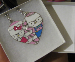 couple, hello kitty, and necklace image