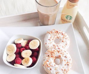 food, breakfast, and donuts image