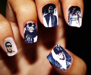 nails, Drake, and chris brown image