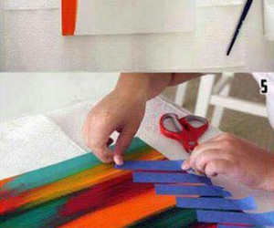 canvas, diy, and masking tape image