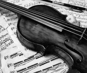 b & w, black and white, and music image