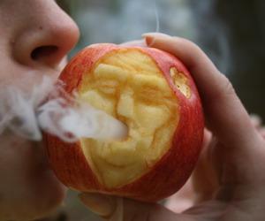 apple, smoke, and weed image
