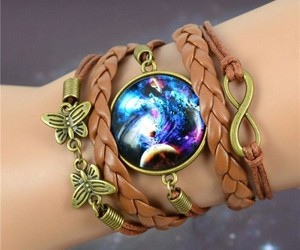 bracelet, explosion, and galaxy image