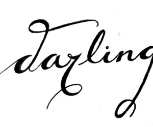 darling, words, and love image