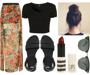 buns, outfit, and Polyvore image