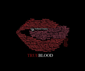 true blood, lips, and typography image