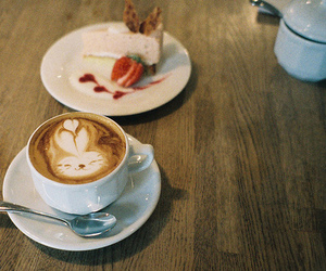 coffee, cute, and cake image