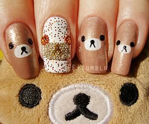 nails, rilakkuma, and bear image