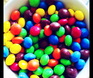 candy, colourful, and m&ms image