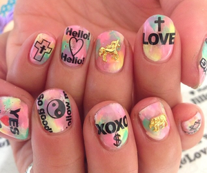 Harajuku, kawaii, and nails image