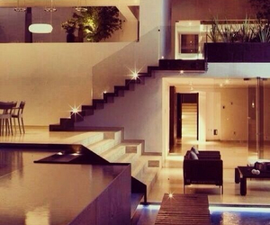 big house, living, and stairs image
