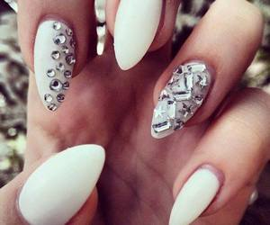 white, nails, and beautiful image