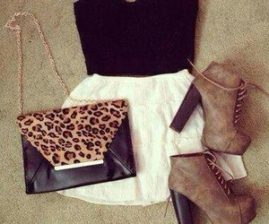 boots, outfits, and purses image
