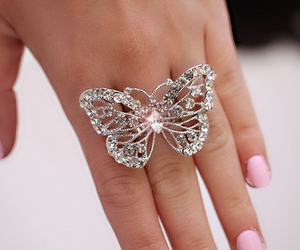 butterfly, hand, and lindo image