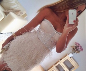 dress, girl, and girly image