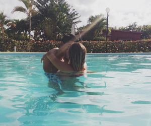 couple, pool, and summer image