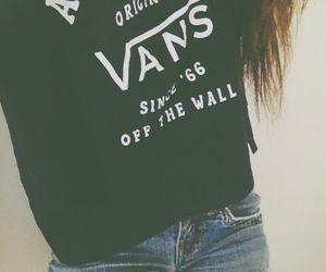 vans, girl, and shorts image