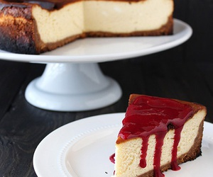 food, cheesecake, and sweet image