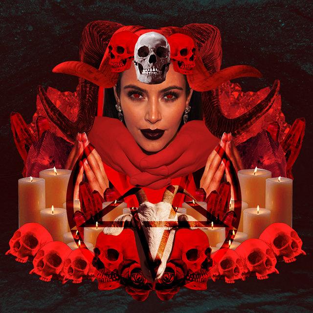 Devil, red, and evil image