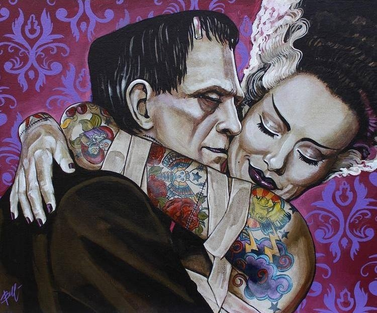 Frankenstein, love, and Bride of Frankenstein image