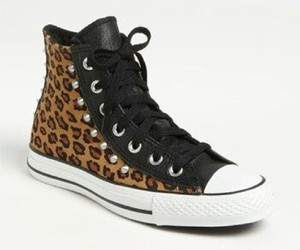 animal print, convers, and shoes image