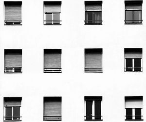 windows, black and white, and white image
