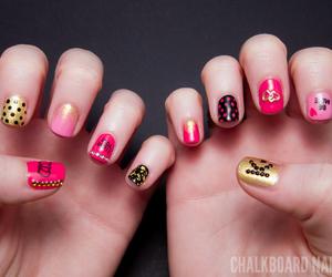nails, rock, and pink image